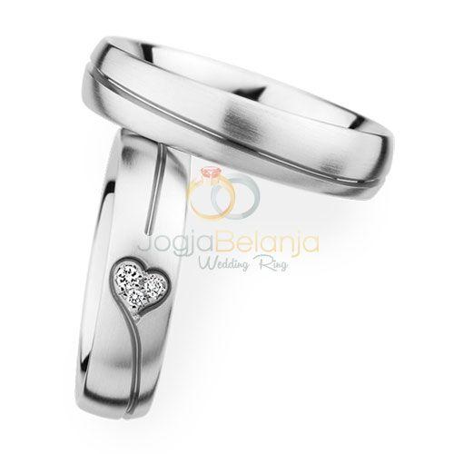 Cincin Kawin Cupid Perak Batu Love | CincinKawinSamara.Com
