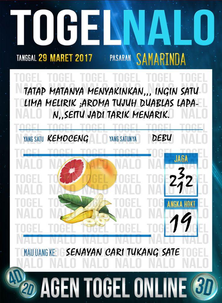 Kode Jitu 6D Togel Wap Online TogelNalo Samarinda 29 Maret 2017