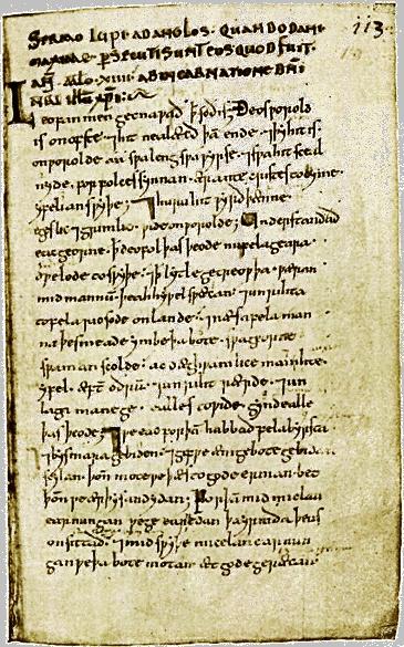 Sermo Lupi Ad Anglos Wulfstans Sermon Of The Wolf Unto