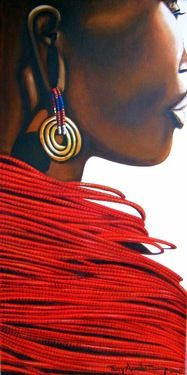 African Tribes curated by Tracey Armstrong. Check out the collection of art I curated on Saatchi Art. #art