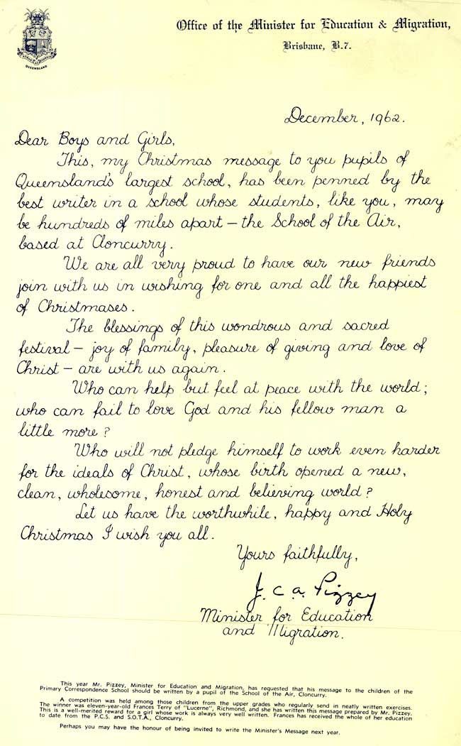 Looks like typography but actual handwriting sample from 1962!