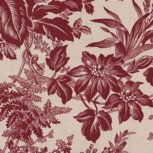 Generals' Wives, Large Floral in Wine