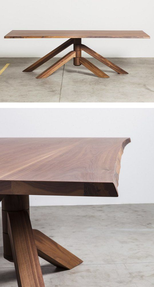Rectangular #table KEPLERO by Miniforms   #design Paolo Cappello #wood