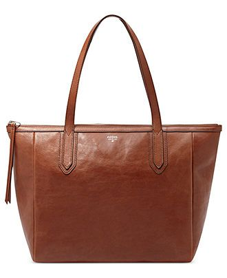 Fossil Handbag, Sydney Leather Shopper - Fossil - Handbags & Accessories - Macy's: Brown, $168