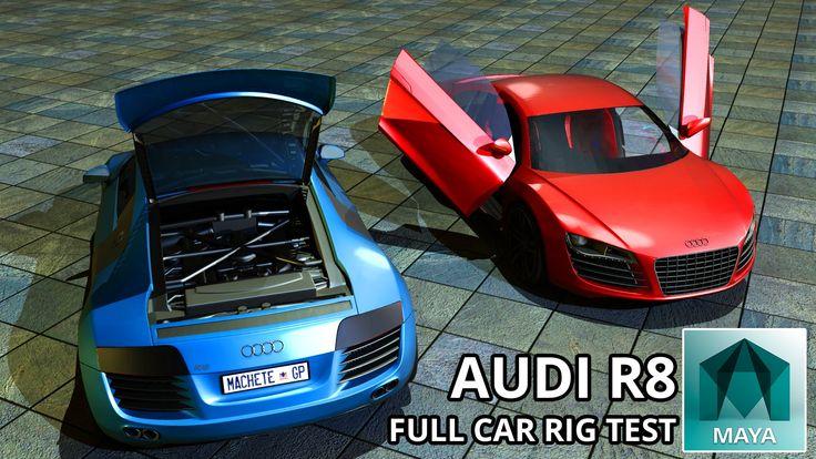 Autodesk Maya 2015 Audi R8 Full Car Rig (Free 3D Model Downloads)
