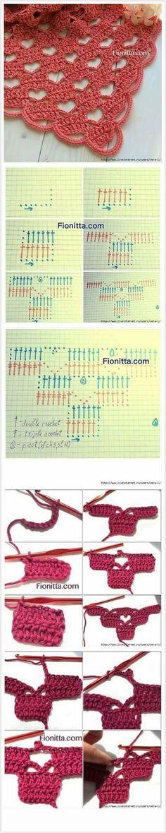 Crochet ANever Ending Love Square Free Pattern - Crochet Heart Square Free Patterns