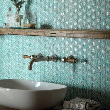 Indian ocean glass tile. Dream bathroom ideas.