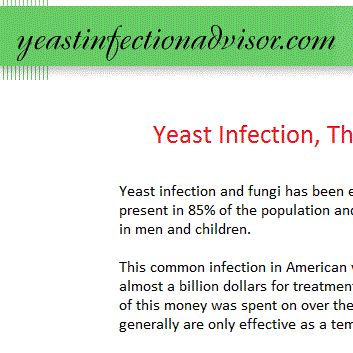 Contact me for questions and concerns concerning yeast infections and fungal diseases, complete yeast infection information and treatment