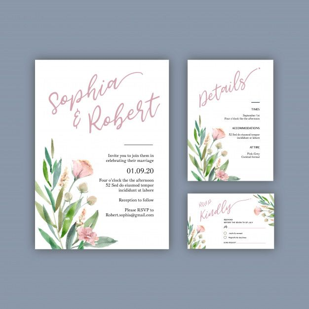 Download Happy Wedding Card Floral Garden Invitation Card Marriage