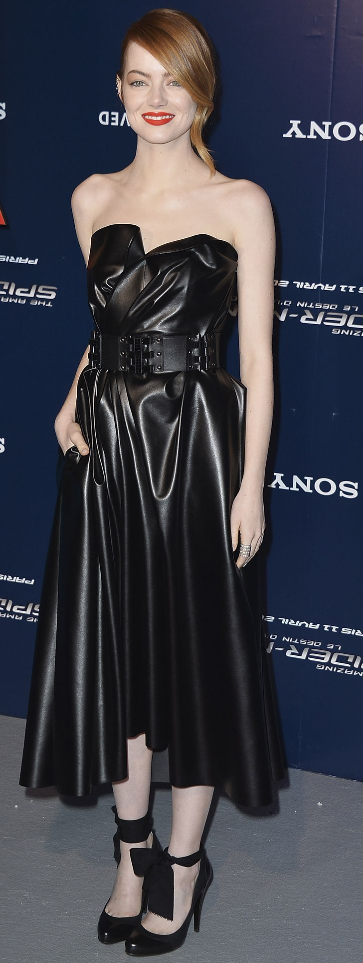 Emma Stone in Lanvin at the Paris The Amazing Spider-Man 2 premiere.