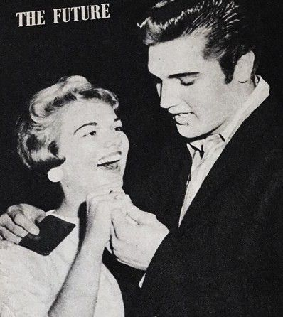 Elvis gave Anita a ring.visit Elvis in  Germany.Hidden years