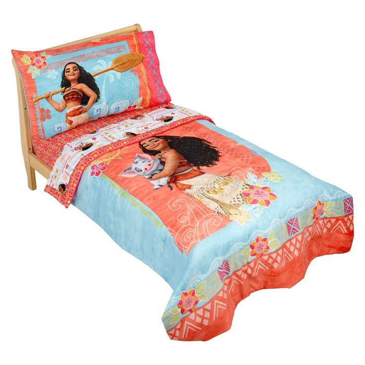 Moana Orange Bedding Set (Toddler) 4pc,
