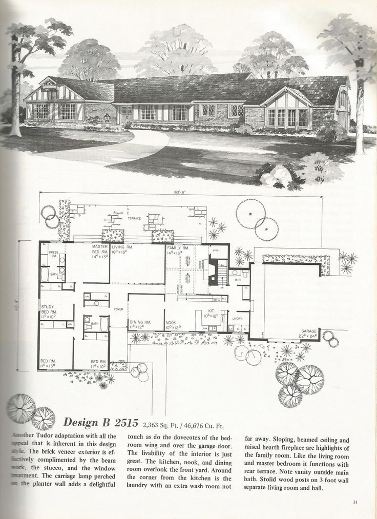 202 best ranch house images on pinterest for 1960s ranch house floor plans