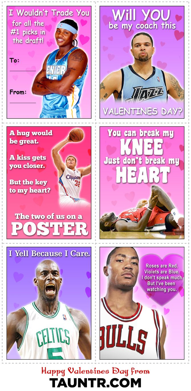 Happy Valentines Day Cards for the NBA Fan   Misc Basketball Pictures   Pinterest   Valentine ...