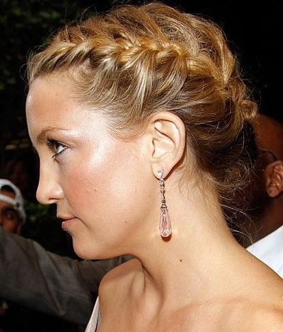 Loose French Braided Updo Hairstyle – Beautiful Updo ! | Hairstyles Weekly