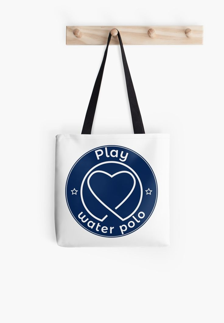 """PLAY LOVE WATER POLO"" Tote Bags by Pernik17 