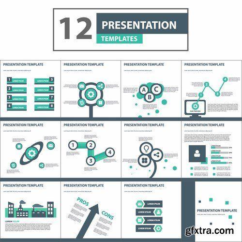 Creative colorful Presentation Templates - 20 EPS » Vector ...