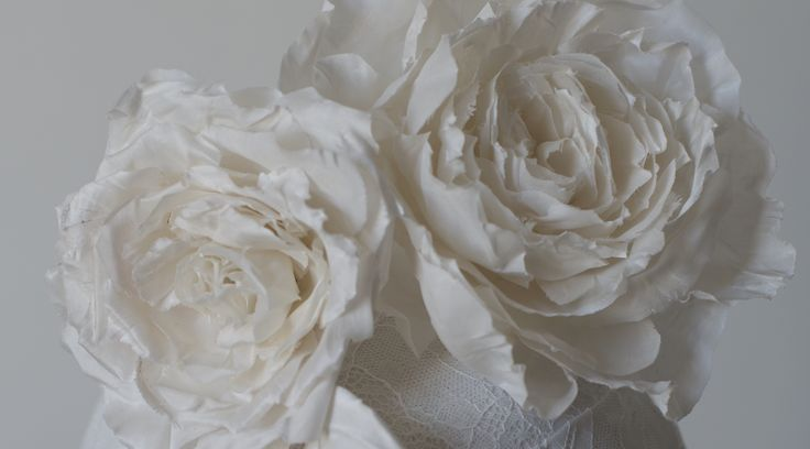 Millinery bridal silk rose
