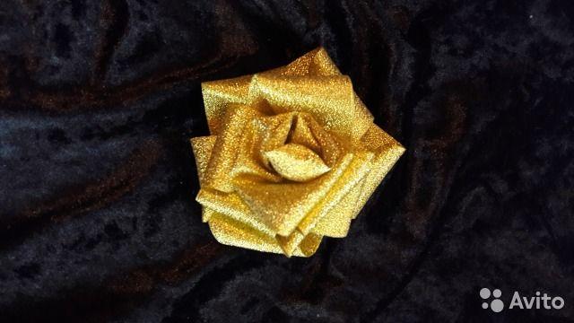 Изделия из атласных лент— фотография №5