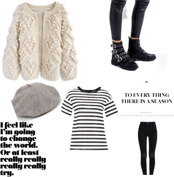 Fall Wardrobe: Essentials Baskenmütze, Stripes, Streifen, Black Jeans, Boots, Nietenboots, Pullover, Strickpullover, Knit wear, Knit pullover, to everything there is a reason, collage, style, outfit, outfit fashion, fashion