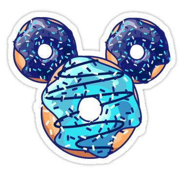 """""""Pop Blue Donut"""" Stickers by XOOXOO 