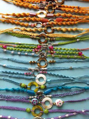 macrame bracelets: