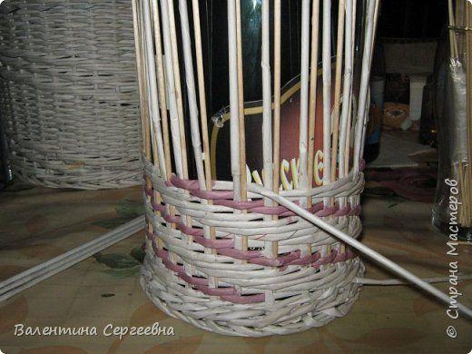 Поделка изделие Плетение Повторение узора № 2 Трубочки бумажные фото 7
