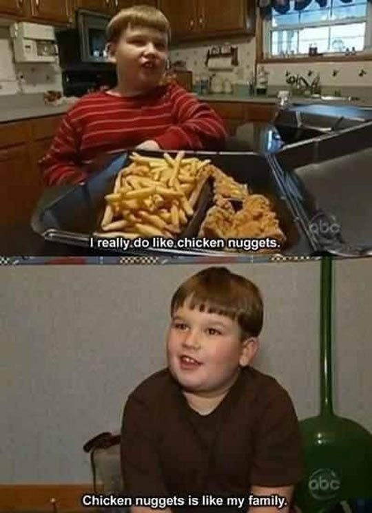 "This Kid Has All His Priorities Straight....I think it is the same one who said ""Bacon is good for me"""