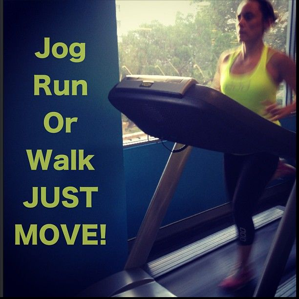 It doesn't matter if you jog, run or walk just move your body.  @Technogym
