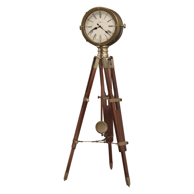 Howard Miller Time Surveyor Floor Clock Antique Brass