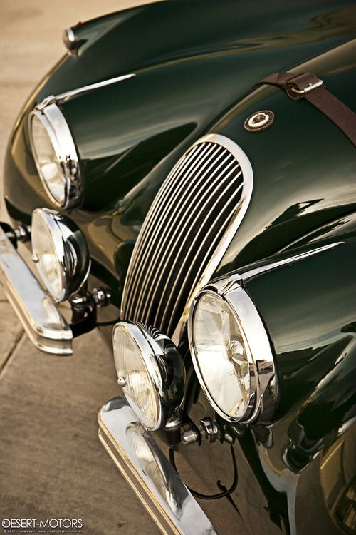 Green with envy...From...desertmotors:...  http://thefullerview.tumblr.com/post/41335281282#         1954 Jaguar XK120 Roadster