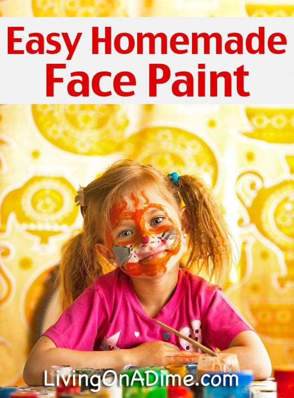 Diy Face Paint Recipe With Eye Shadow