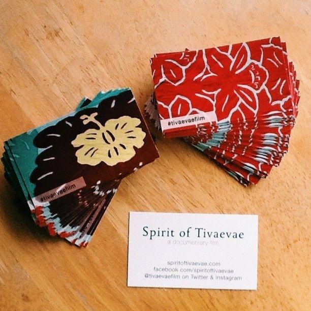business cards for #tivaevaefilm