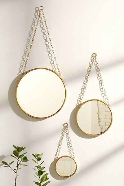 Industrial Wall Mirror - Urban Outfitters / For the corner near the window but hold for wallpaper pricing