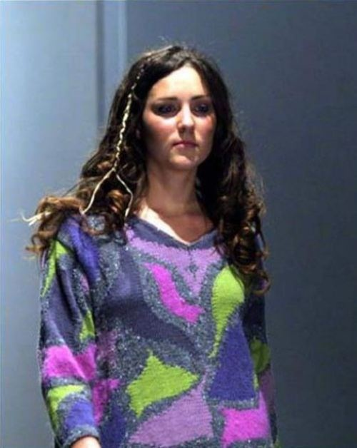 Duchess Catherine during the St. Andrews' Charity Fashion Show, March 2002