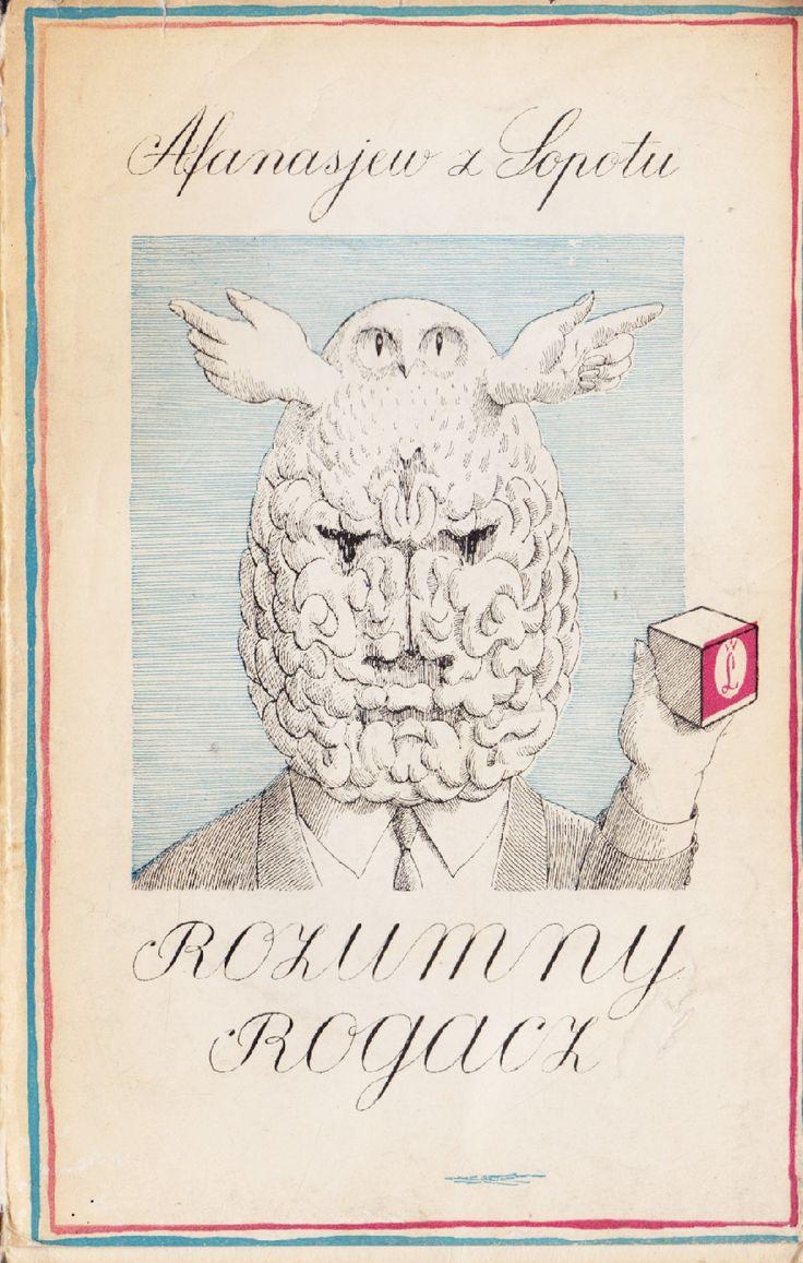'Rozumny rogacz', Kraków 1964, cover by Daniel Mroz