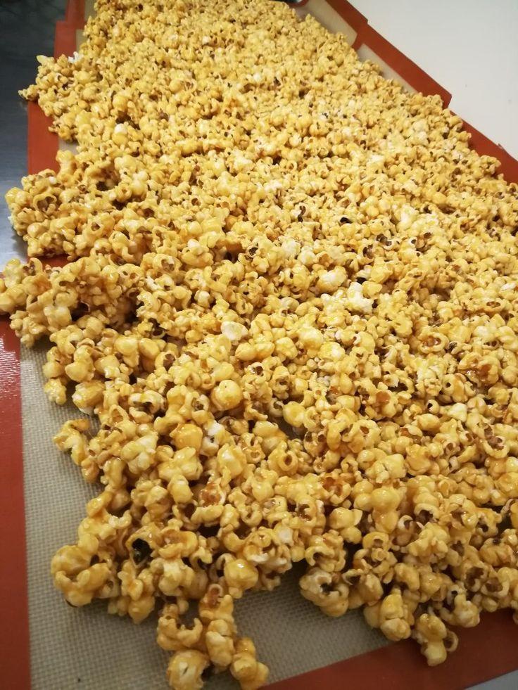 Freshly made Caramel Popcorn