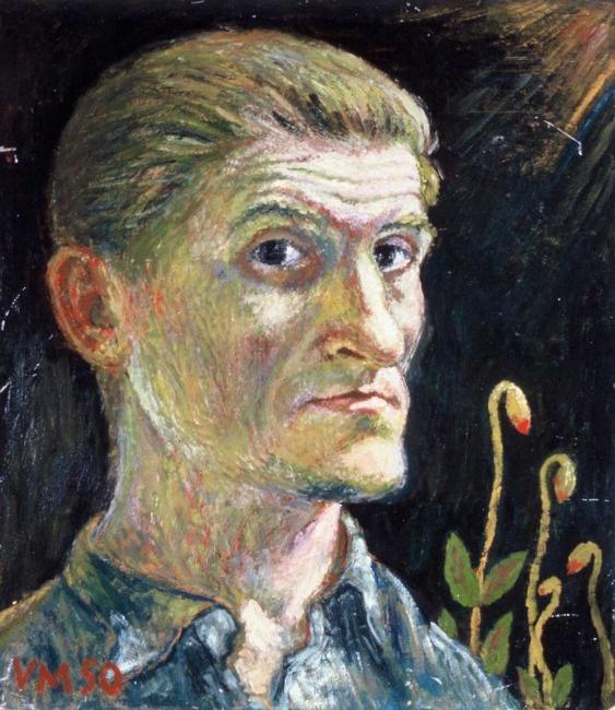 Viljo Mäkinen: Self-portrait, 1950