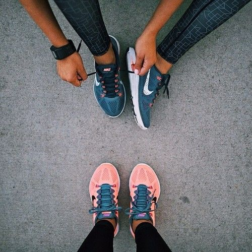 Just cause you're sweating it up, doesn't mean your comfort can't look good. Nike Free Runs.