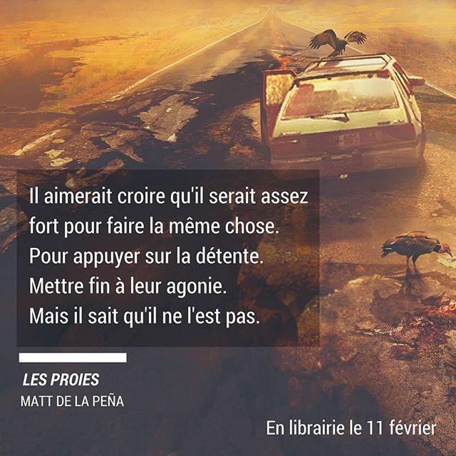 Tuer ou être tué ? Telle est la question à laquelle devront répondre Shy et les autres survivants dans #LesProies, suite et fin du diptyque de Matt de la Pena.
