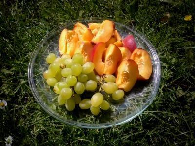 Zdravá svačinka v trávě ♥ Víte, proč se ovoce doporučuje jíst v létě mnohem víc než v zimě? No jasně, je to taky proto, že v létě ovoce dozrává a je nám dostupnější... Ale hlavně, ovoce totiž ochlazuje organismus❣ A v tomhle horku se to hodí❣ www.sobotkovabarbora.com