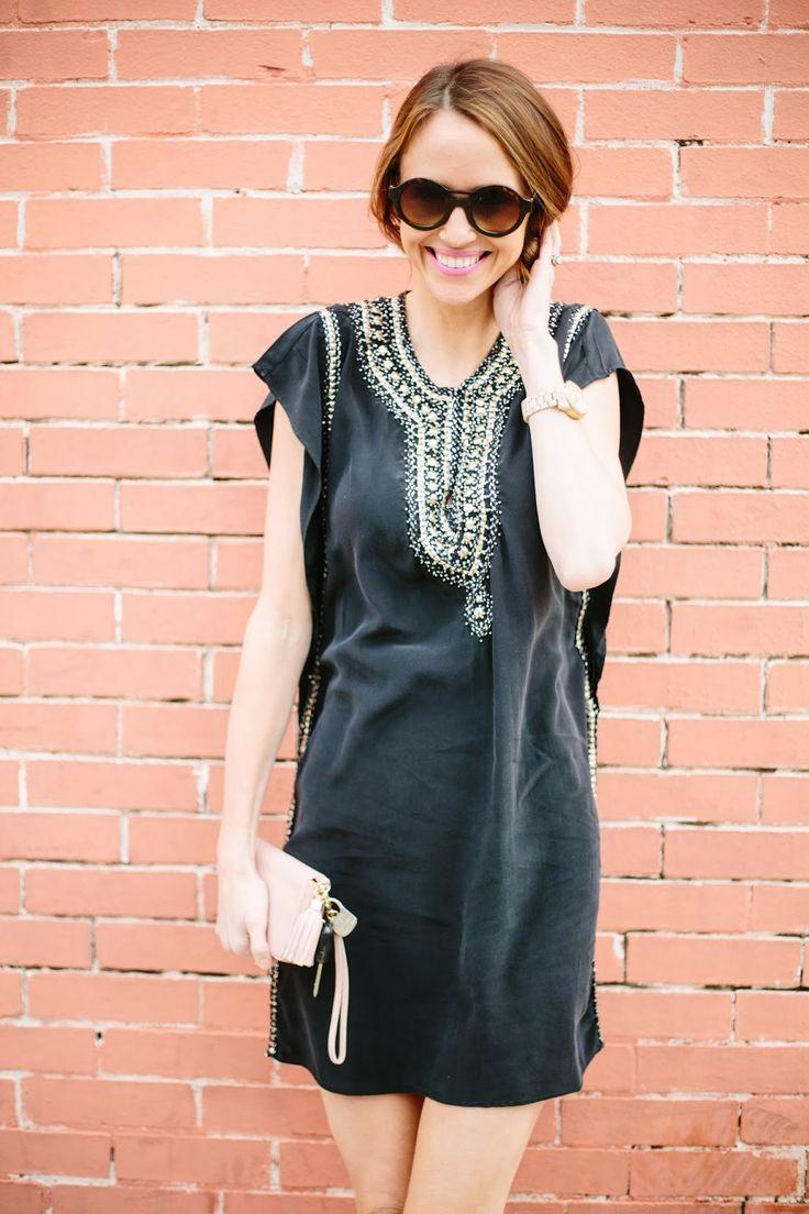 @Sarah Tucker is bohemian chic in the #Calypsostbarth Elliot Bead Embellished Silk Dress