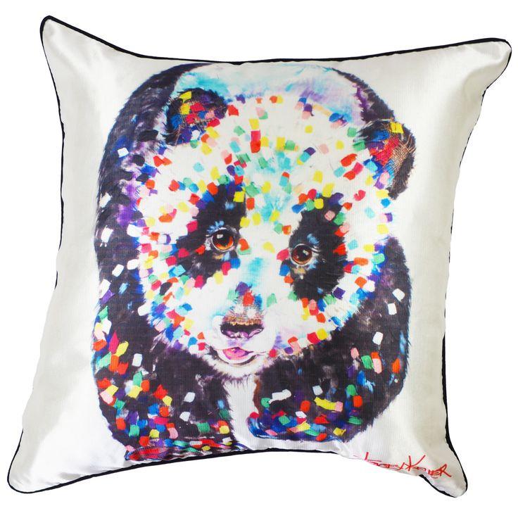 Panda Walk cushion cover tracey keller