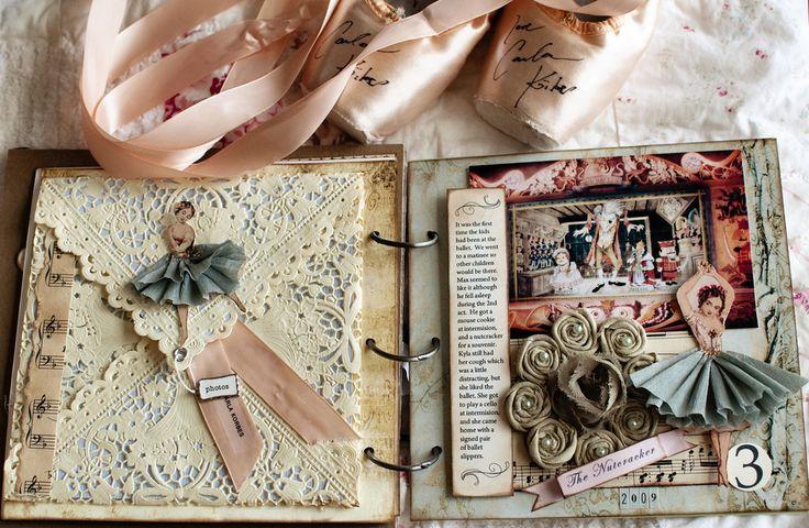 scrapbook.: Scrapbook Ideas, Vintage Shabby Chic, Minis Album, Collage Art, Art Journals, Vintage Stuff, Mixed Media, Vintage Ballet, Altered Art