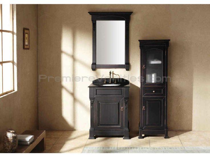 1000 images about master bath on pinterest bathroom remodeling bathroom vanities and brick - Black bathroom vanity design ...