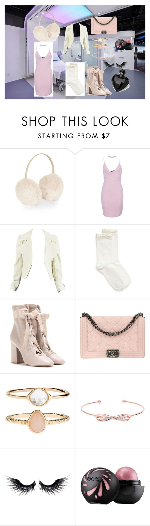 """""""chanel #3 inspo"""" by christinentais on Polyvore featuring Accessorize, Boohoo, Hue, Valentino, Chanel, Ted Baker, MAKE UP FOR EVER and Lipsy"""
