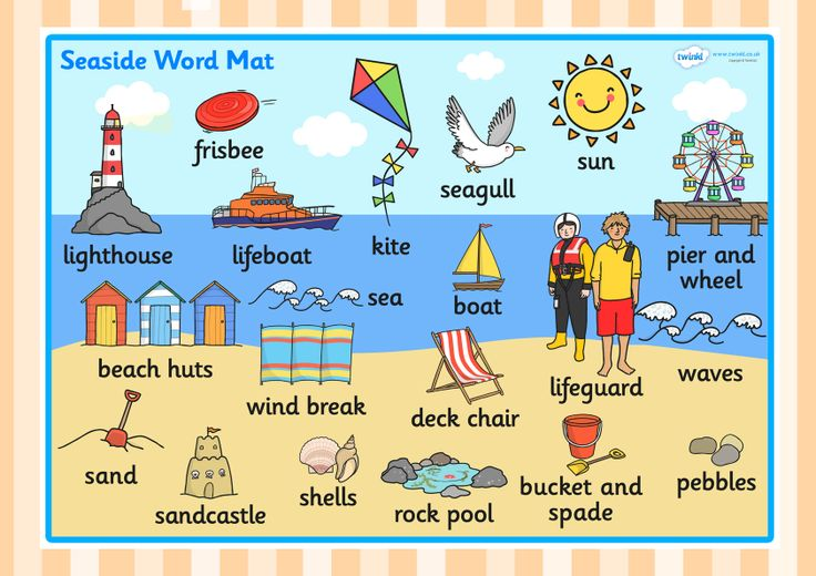 The Seaside Word Mat Twinkl Seaside Resources