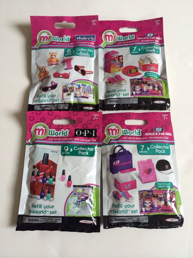 MiWorld Mi World Lot of 4 Refills Claire's Opi Sketchers NEW Refill Barbie Toy #JAKKSPacific