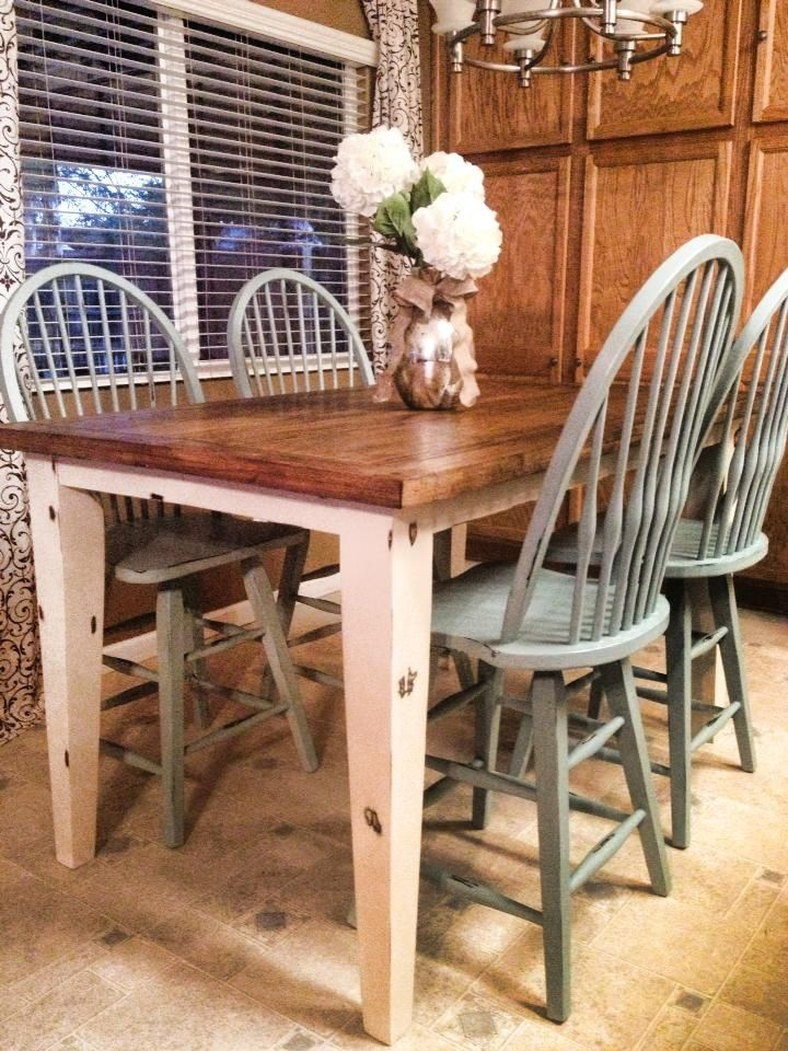 dining table makeover chalk paint for the home pinterest