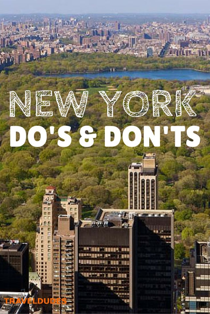 The Do's and Don'ts of Being a Tourist in New York City